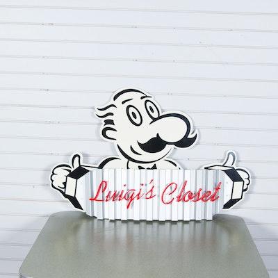 """LaRosa's """"Luigi's Closet"""" Sign on Board"""