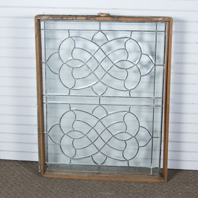 Vintage Decorative Glass Window