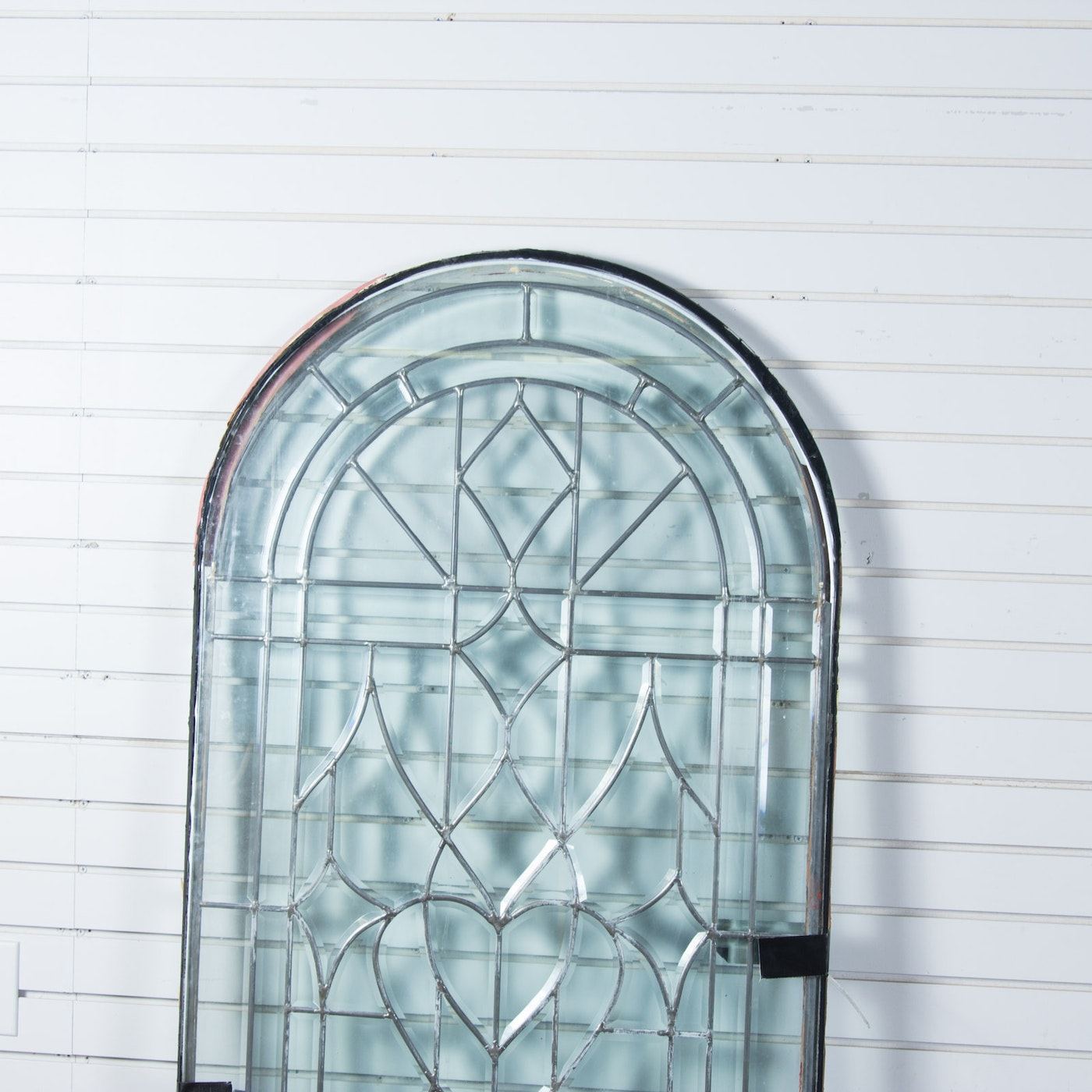 Vintage arch top glass window ebth for Best glass for windows