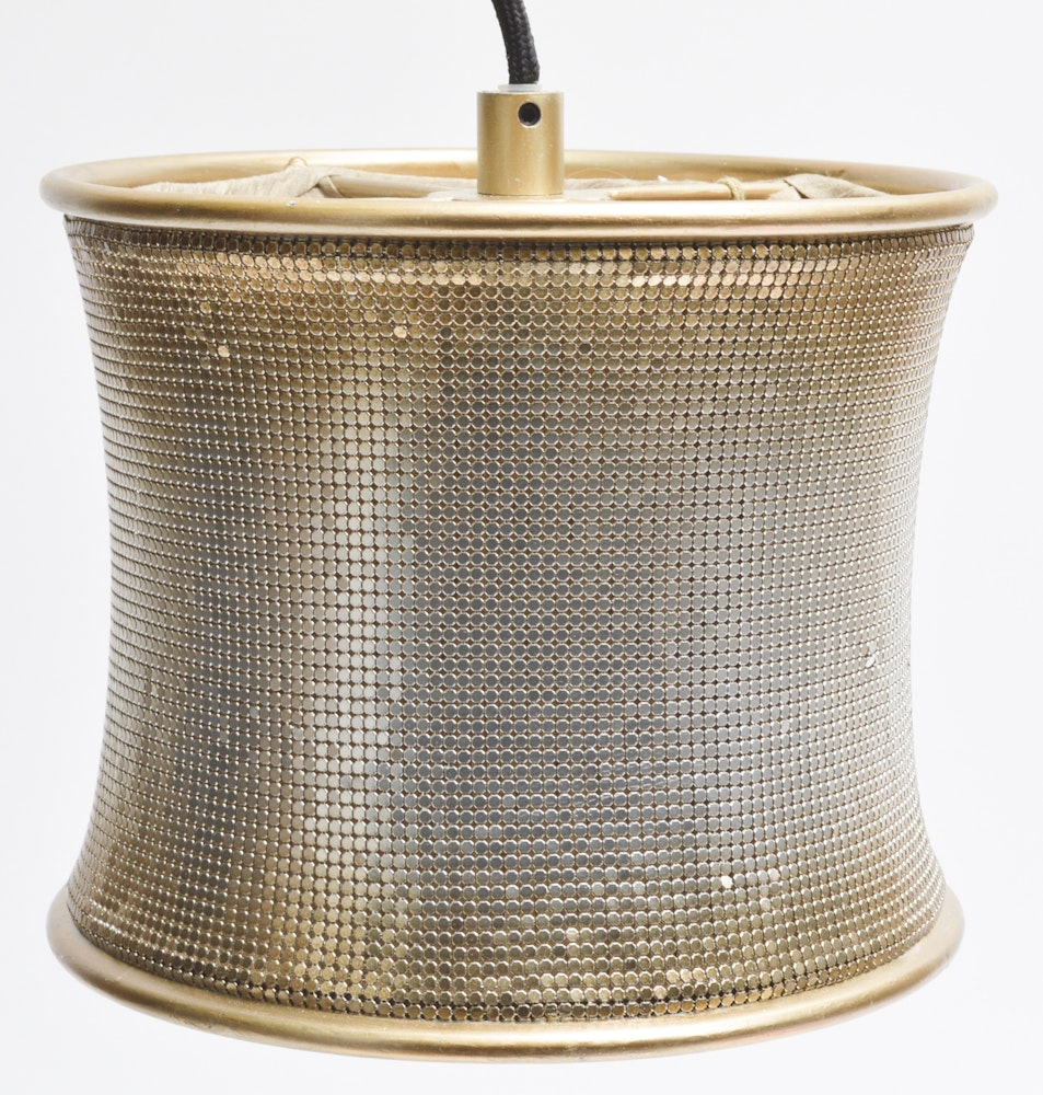 New Uttermost Champagne Mesh Metal Mini Lighting Ebth