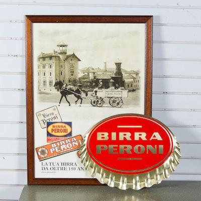 Birra Peroni Beer Signs