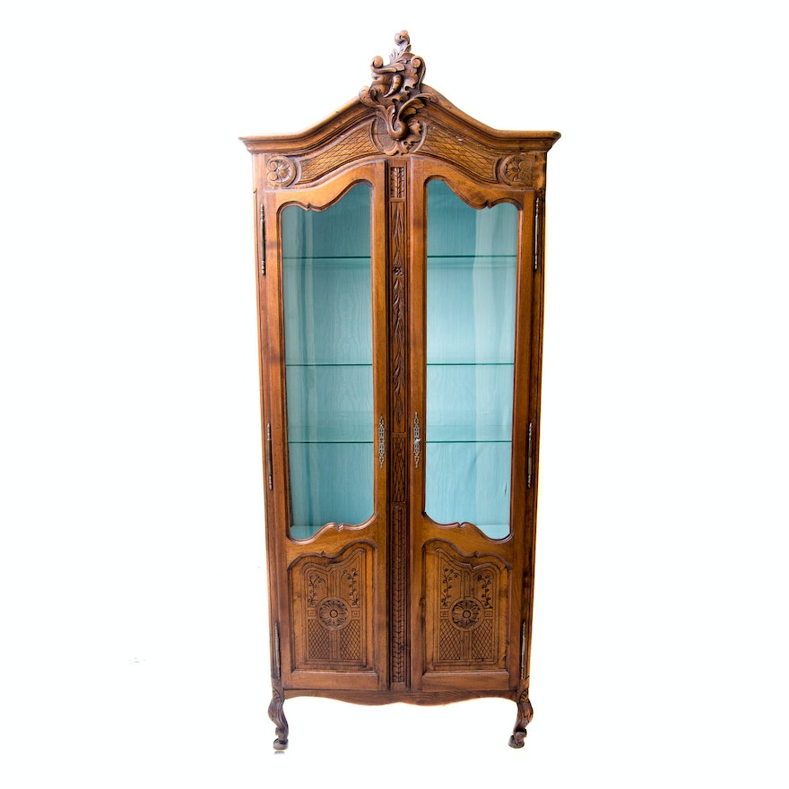 Vintage French Curio Cabinet ... - Vintage French Curio Cabinet : EBTH
