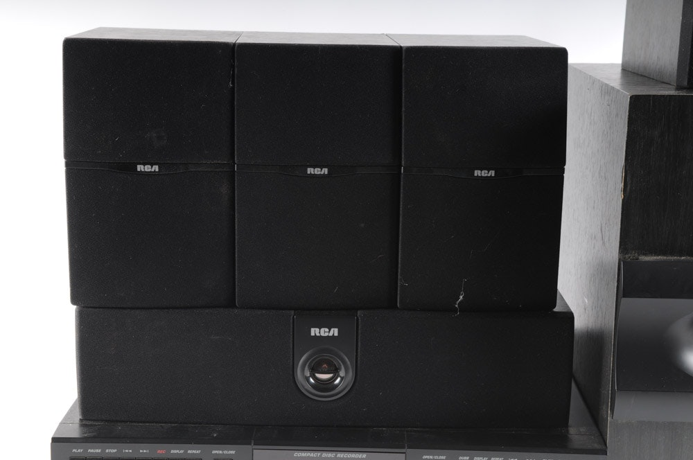 Collection Of Rca Home Theater Speakers And Classic Cd