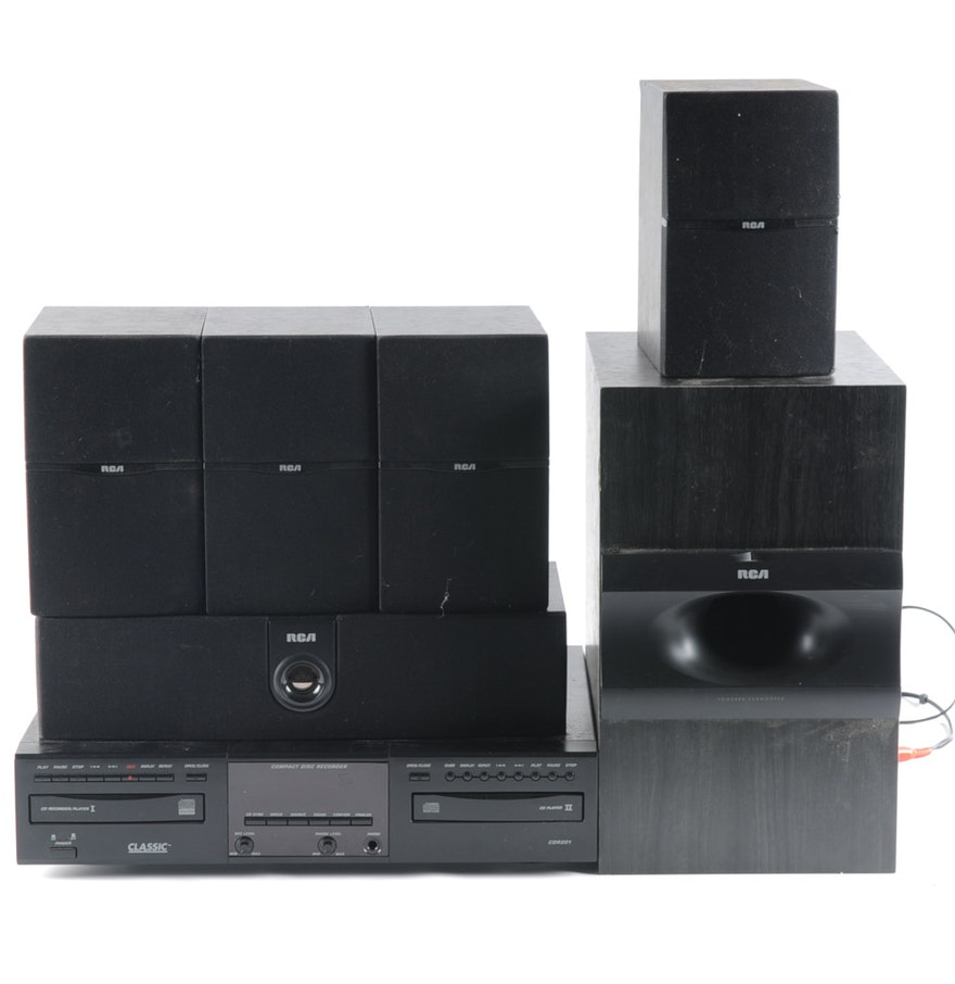 Collection of rca home theater speakers and classic cd for Classic house cd