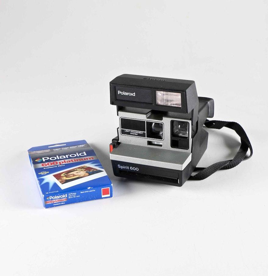 polaroid spirit 600 camera and film ebth. Black Bedroom Furniture Sets. Home Design Ideas