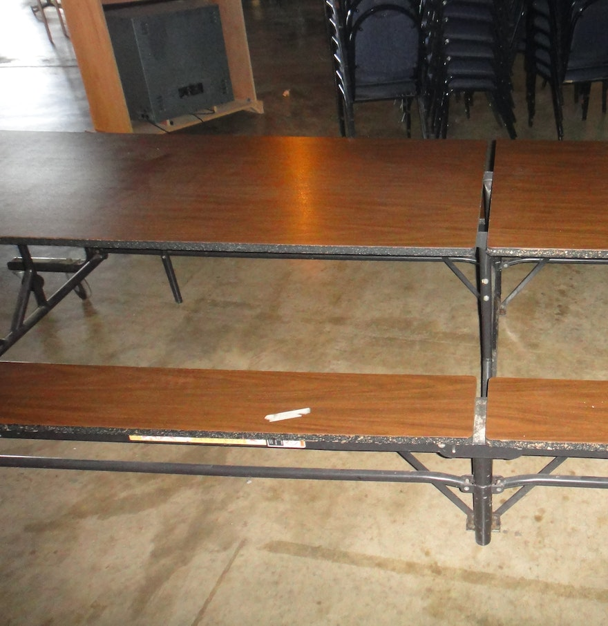 Table With Bench Seats: Folding Cafeteria Bench Seat Table : EBTH