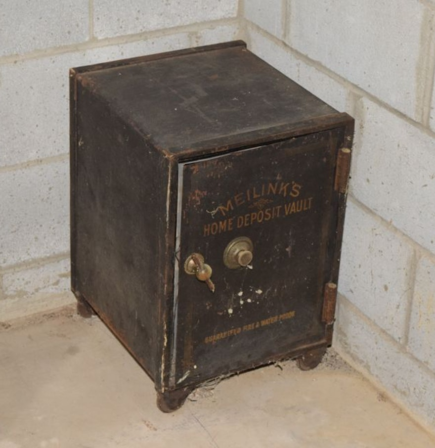 Antique Meilink 39 S Home Deposit Vault Combination Safe Ebth
