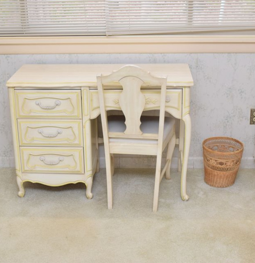 Huntley Furniture By Thomasville French Provincial Style Desk And Chair Ebth