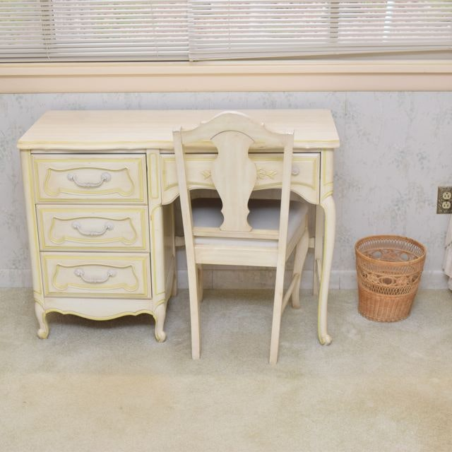 Exceptionnel Huntley Furniture By Thomasville French Provincial Style Desk And Chair ...