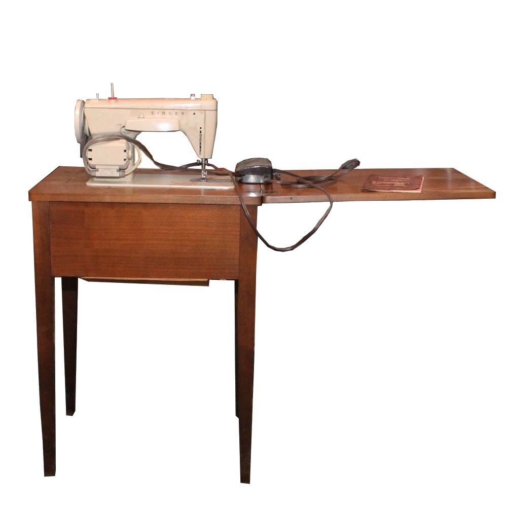 1950 S Singer 15 90 Sewing Table With Accessories Ebth