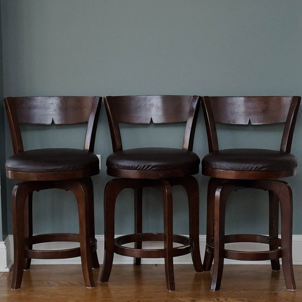 Pair Of Counter Height Pottery Barn Stools Ebth