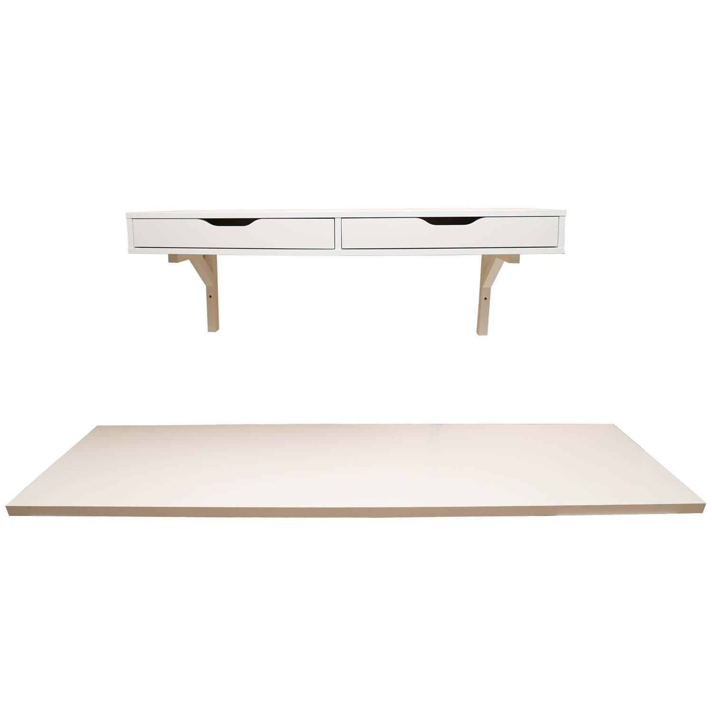 Ikea Wall Shelf and Desk Top : EBTH