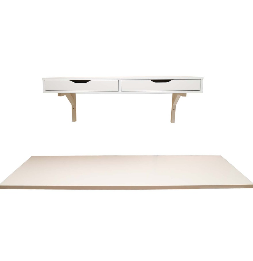 ikea wall shelf and desk top ebth. Black Bedroom Furniture Sets. Home Design Ideas