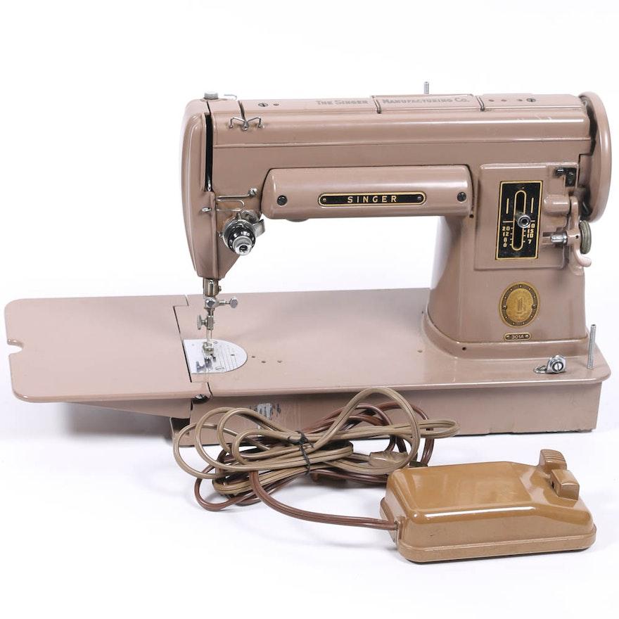 Vintage Singer Sewing Machine 40A EBTH Delectable 301a Singer Sewing Machine
