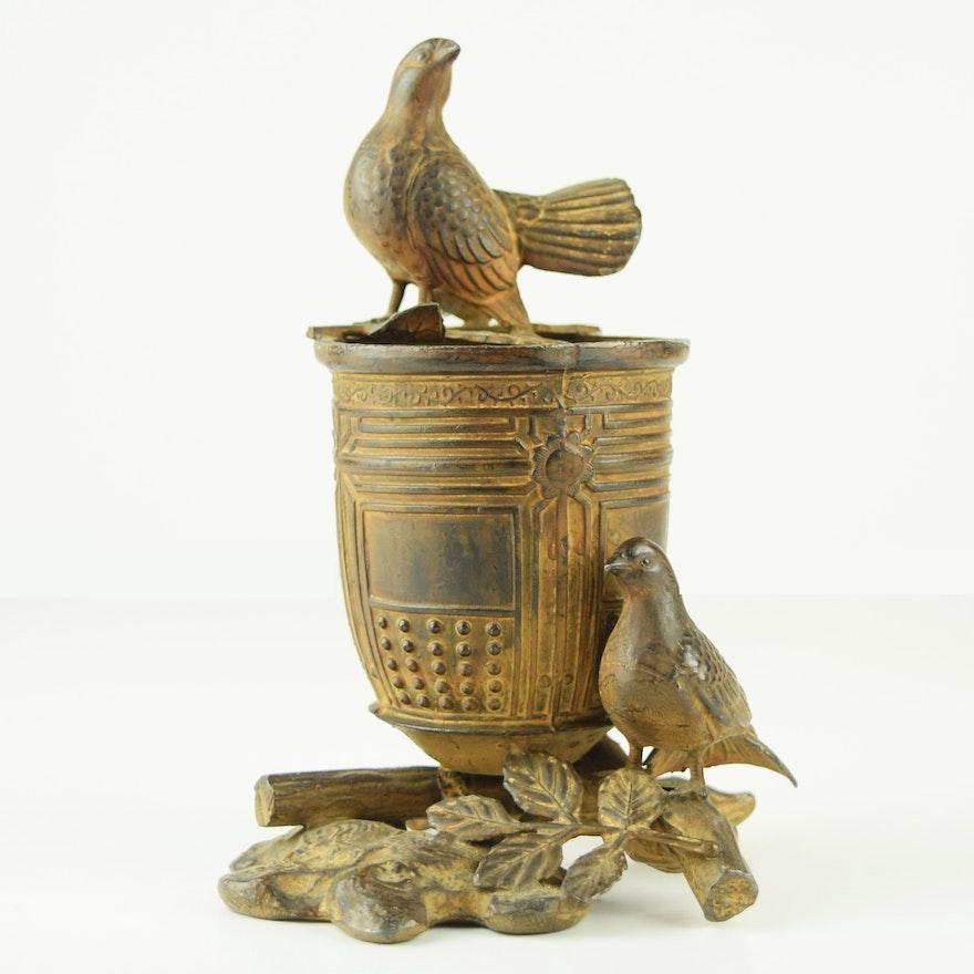 Antique Japanese Bronze Temple Bell Vase Ebth