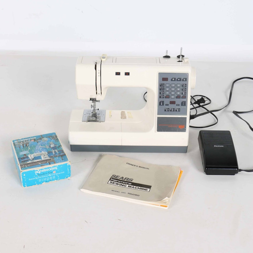Sears Kenmore Limited Edition 40 Stitch Sewing Machine EBTH Unique Kenmore Sewing Machine Owner's Manual