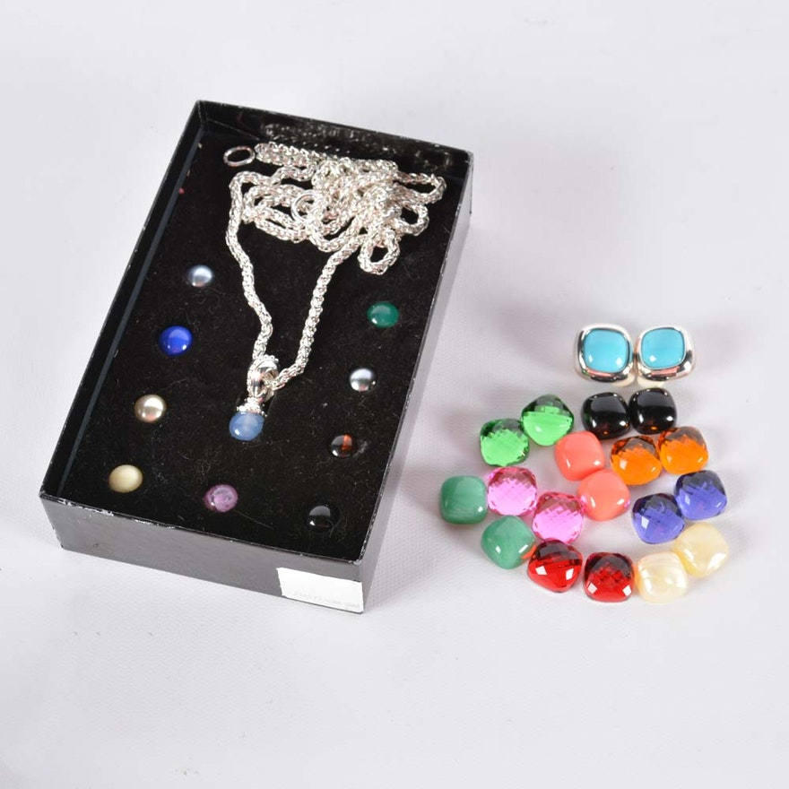 Joan rivers interchangeable bead pendant and earring sets ebth joan rivers interchangeable bead pendant and earring sets aloadofball Gallery