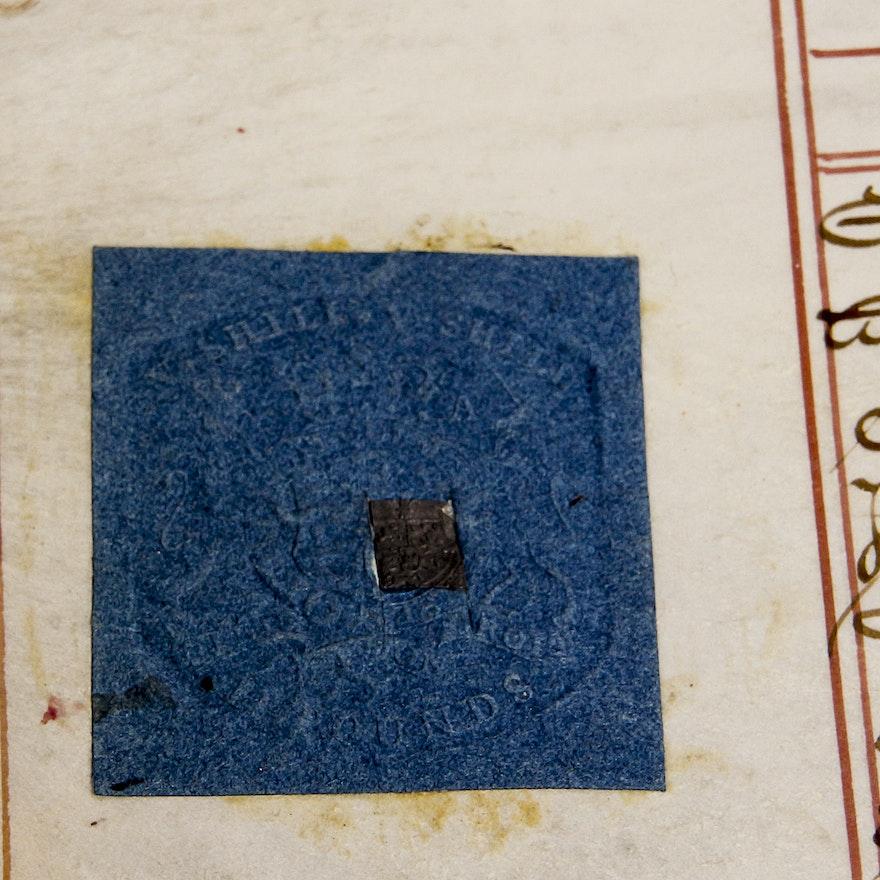Antique Original Indentured Servitude Contract | EBTH