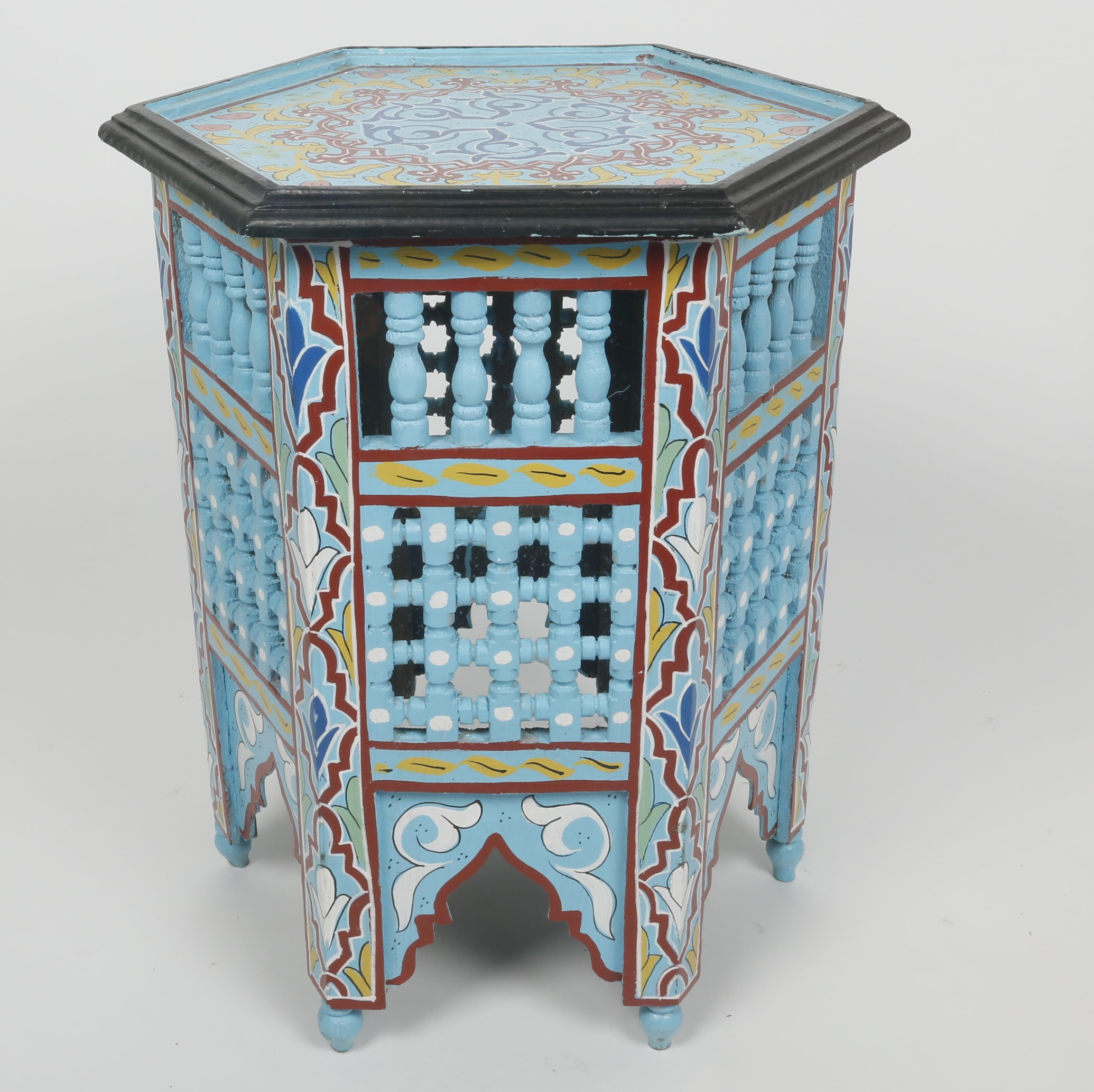 Turquoise Moroccan Hand Painted Table ...