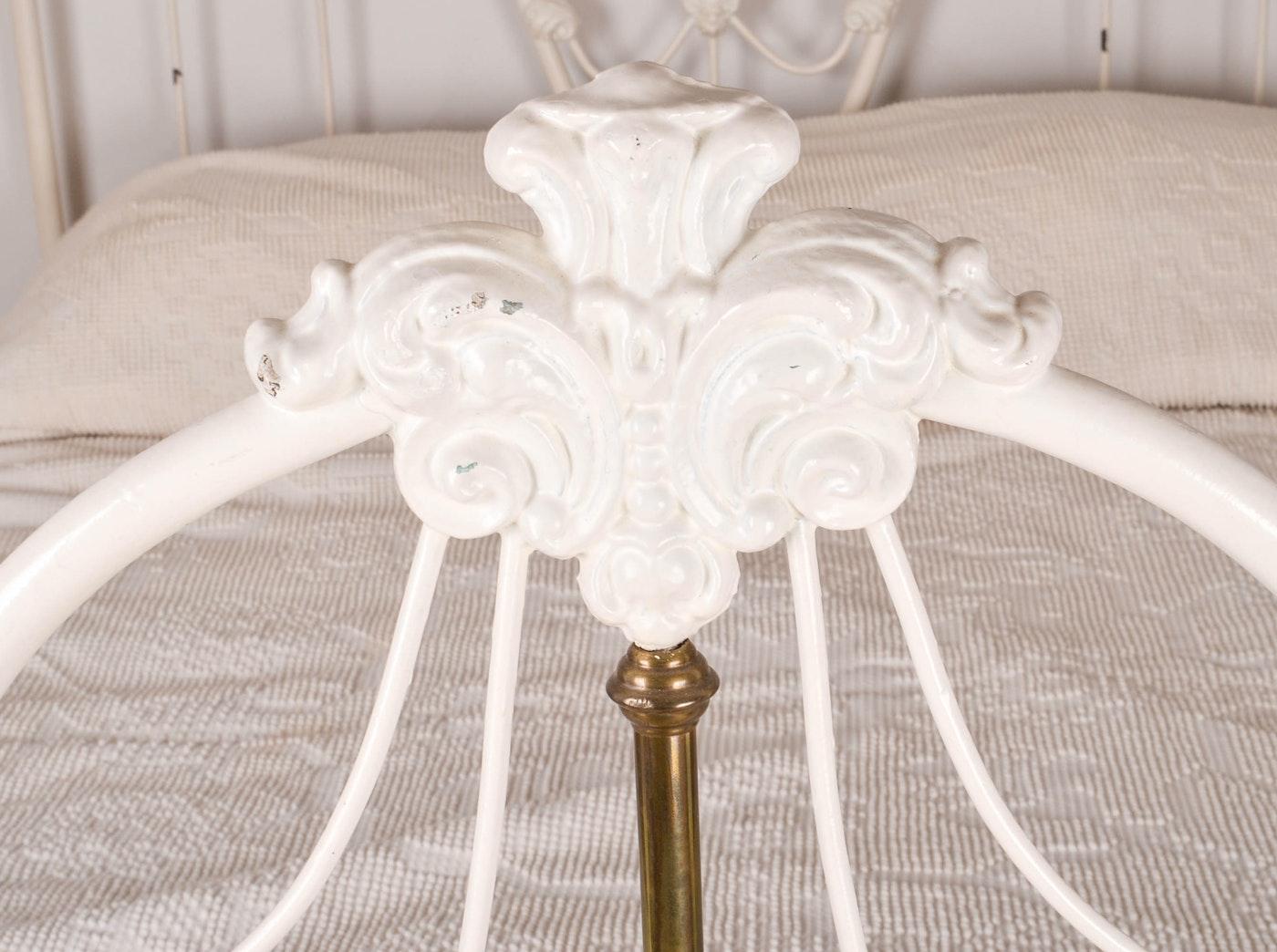 White Iron Full Size Bed Frame Ebth