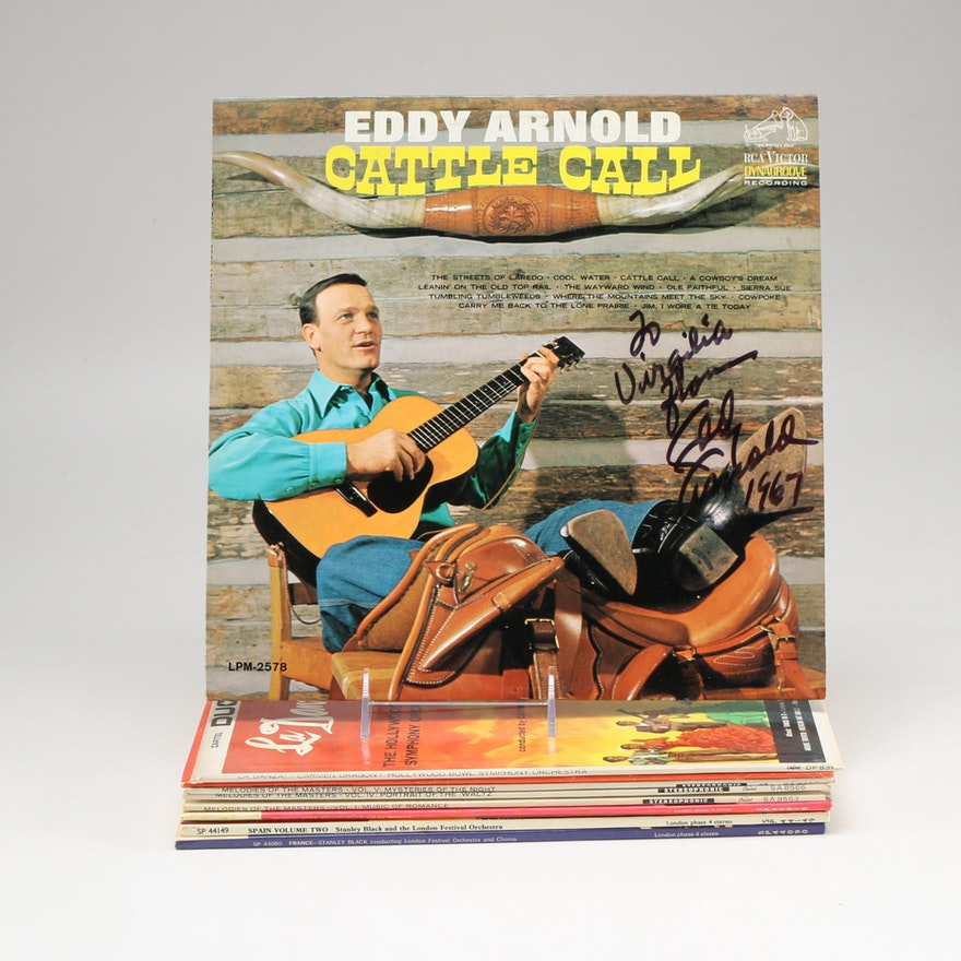 Signed Eddy Arnold And Other Country Lps Ebth
