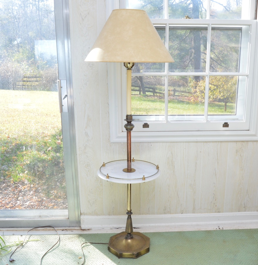Vintage brass and marble lamp table ebth vintage brass and marble lamp table geotapseo Gallery