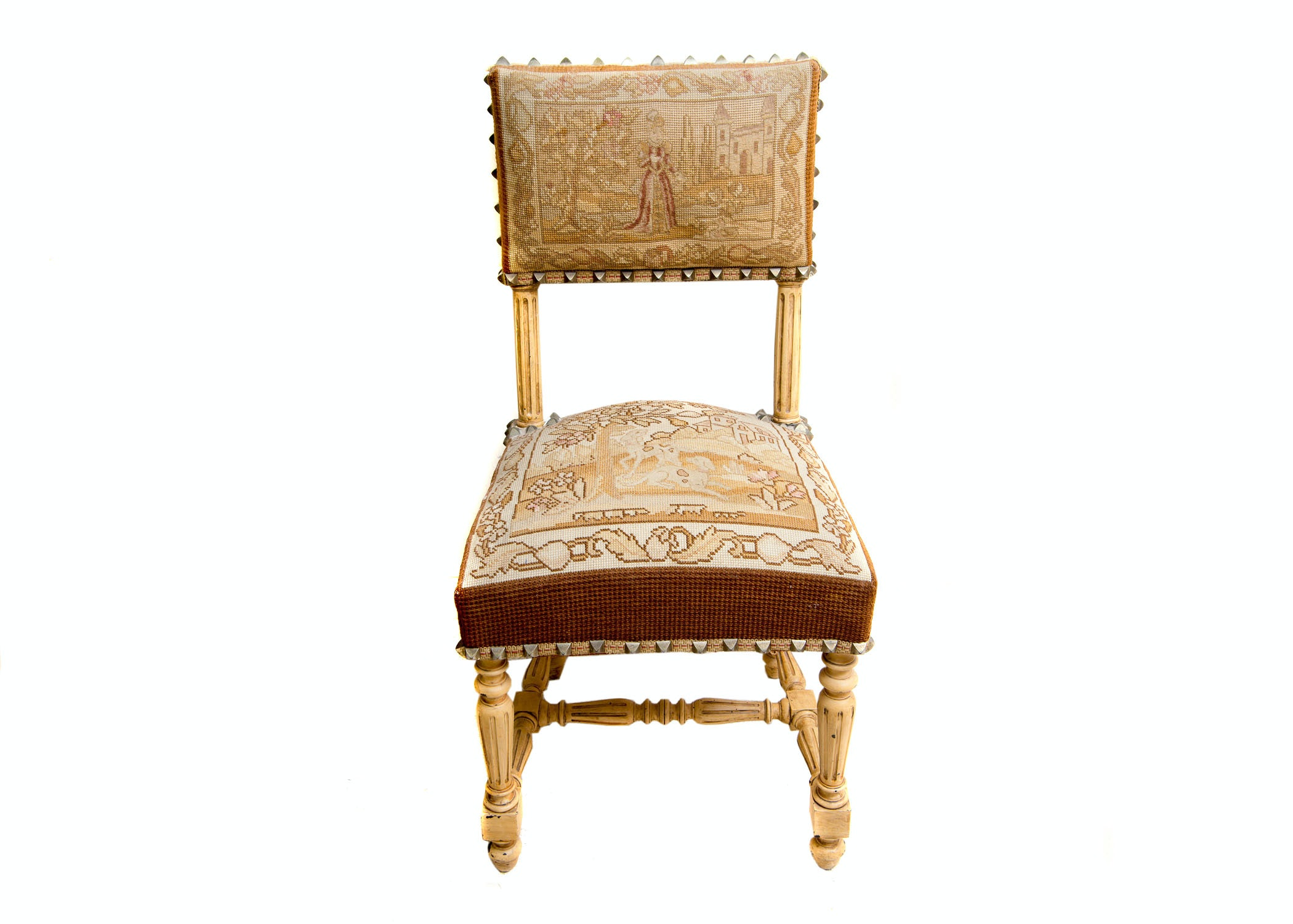 Antique Louis XVI Style Tapestry Chair ...  sc 1 st  EBTH.com & Antique Louis XVI Style Tapestry Chair : EBTH