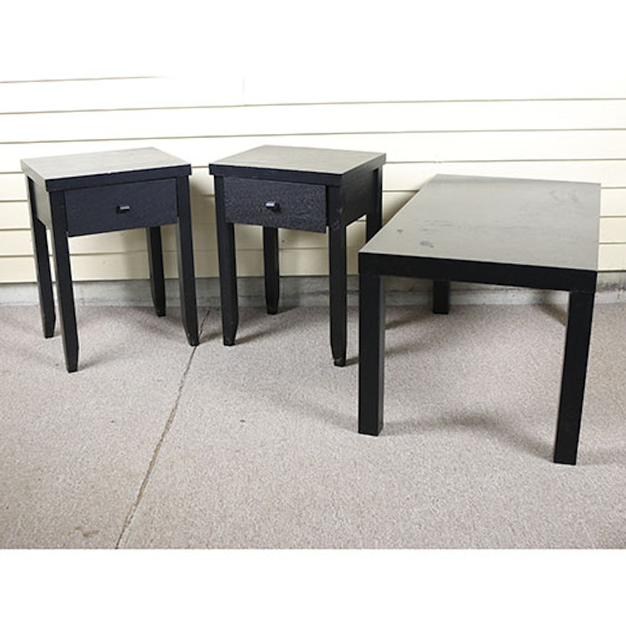 Peachy Coffee Table And Two End Tables Ocoug Best Dining Table And Chair Ideas Images Ocougorg