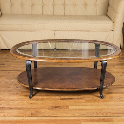 Small Oval Bombay Company Coffee Table Ebth