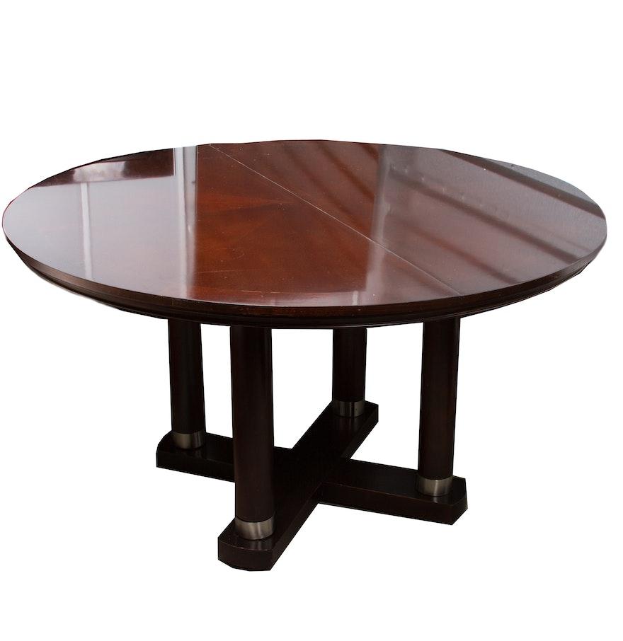 hollywood regency style round dining room table ebth. Black Bedroom Furniture Sets. Home Design Ideas