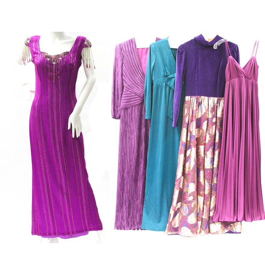 Collection of 1970\'s Evening Gowns incl. George F for Bergdorf : EBTH