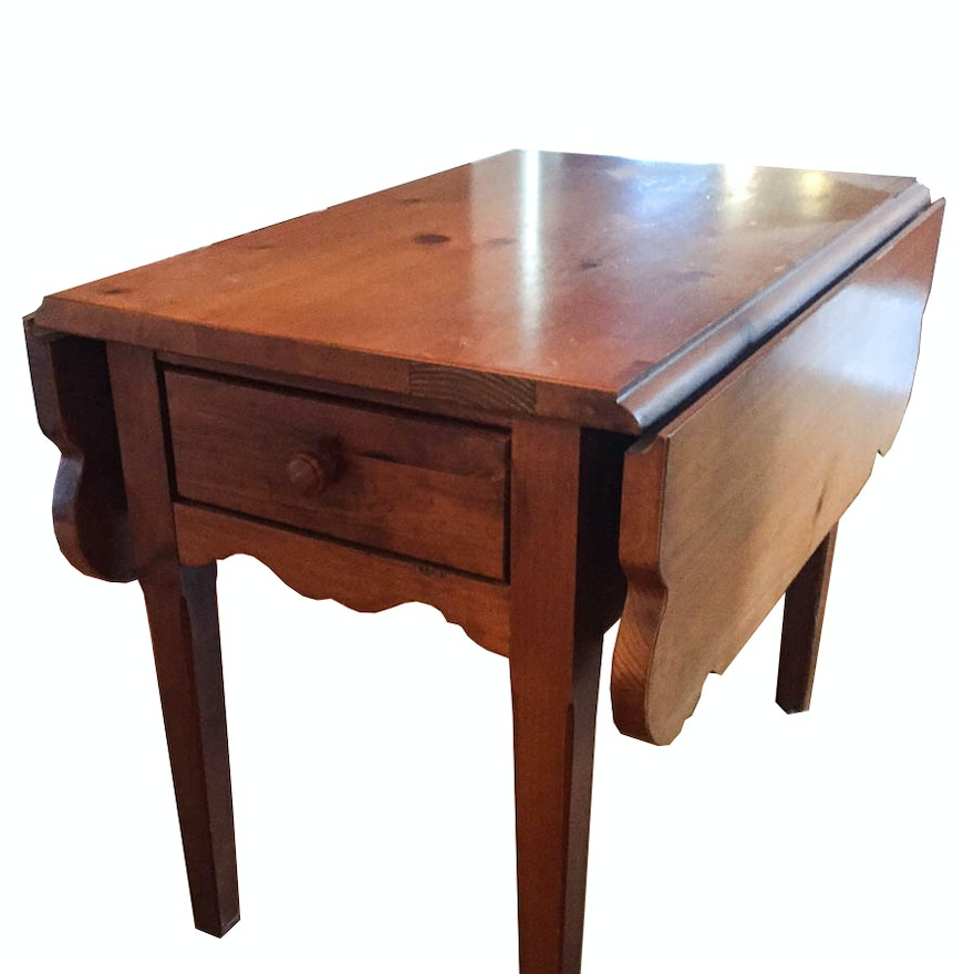Vintage Pine Drop Leaf Table By Broyhill Ebth