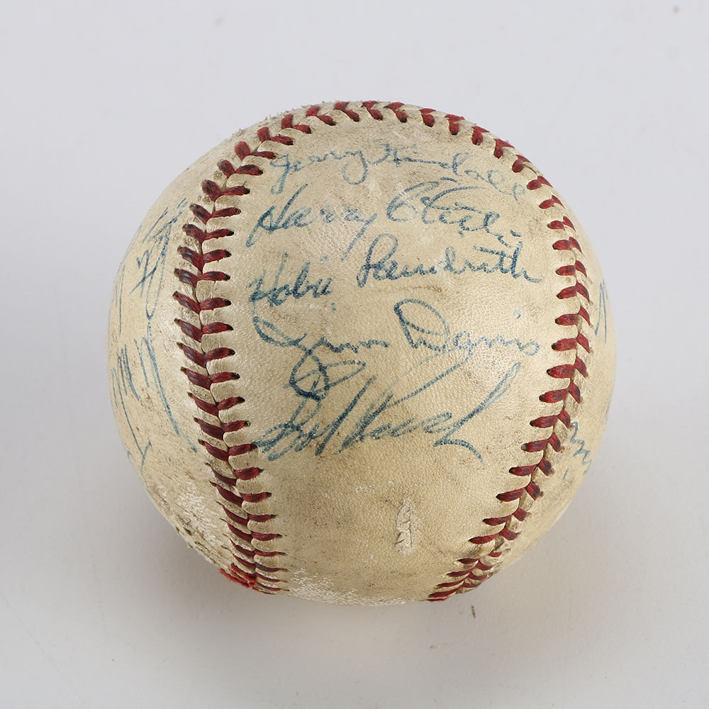 1956 Chicago Cubs Signed Team Ball