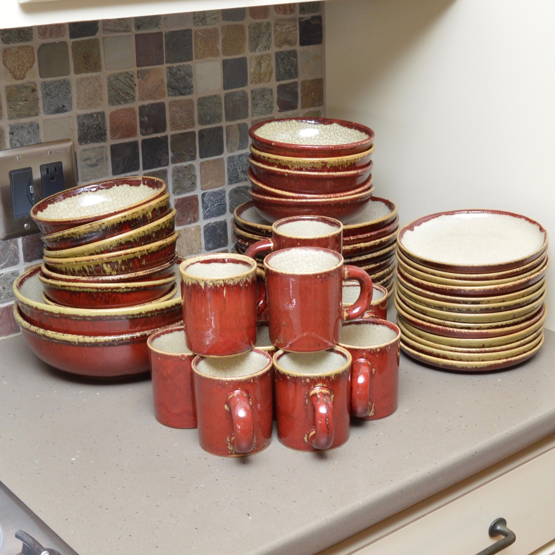 Crackle Collection  Dinnerware Set by Pier ... & Crackle Collection