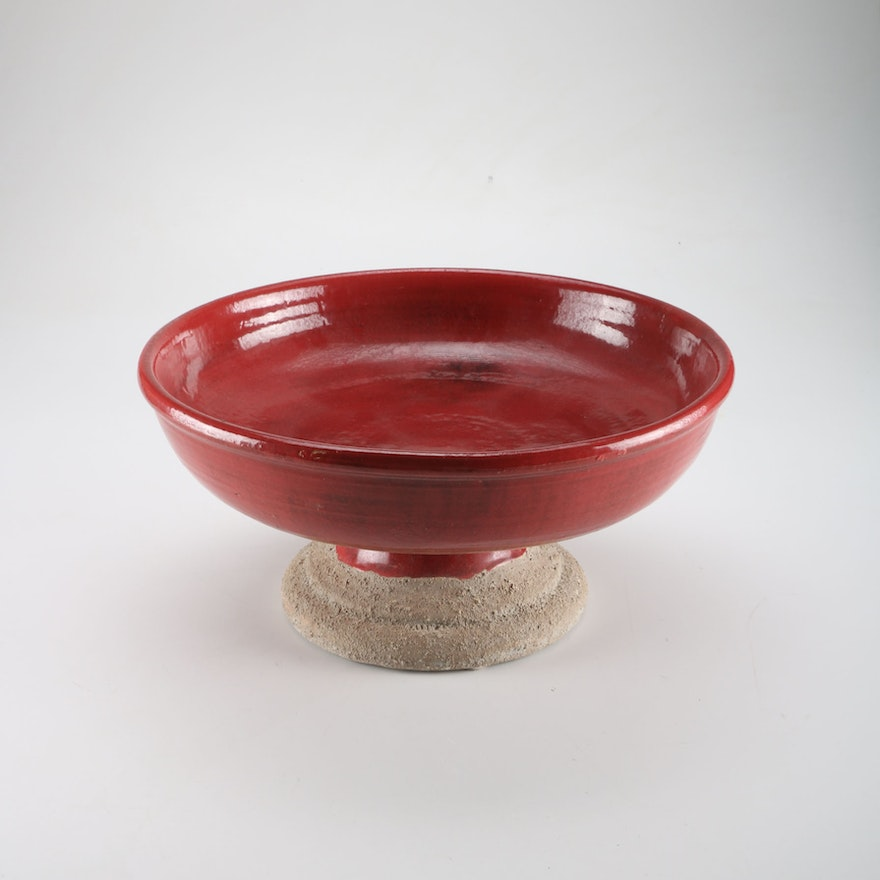 Pottery Barn Decorative Red Earthenware Bowl EBTH Magnificent Pottery Barn Decorative Bowls