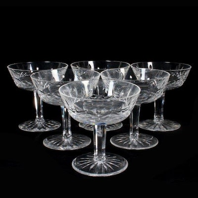 Five crystal champagne coupe glasses ebth - Waterford champagne coupe ...