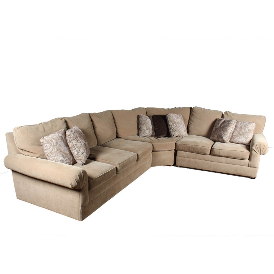 Groovy Upholstered L Shaped Sectional Creativecarmelina Interior Chair Design Creativecarmelinacom