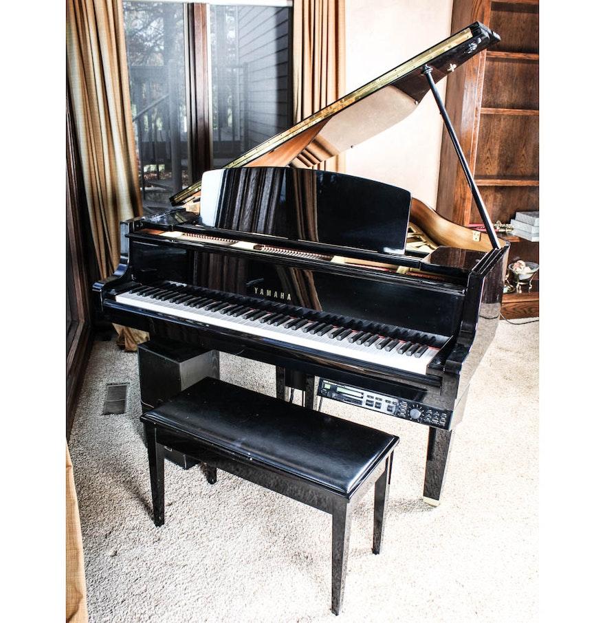 Yamaha gh1 b disklavier baby grand piano ebth for Yamaha disklavier grand piano