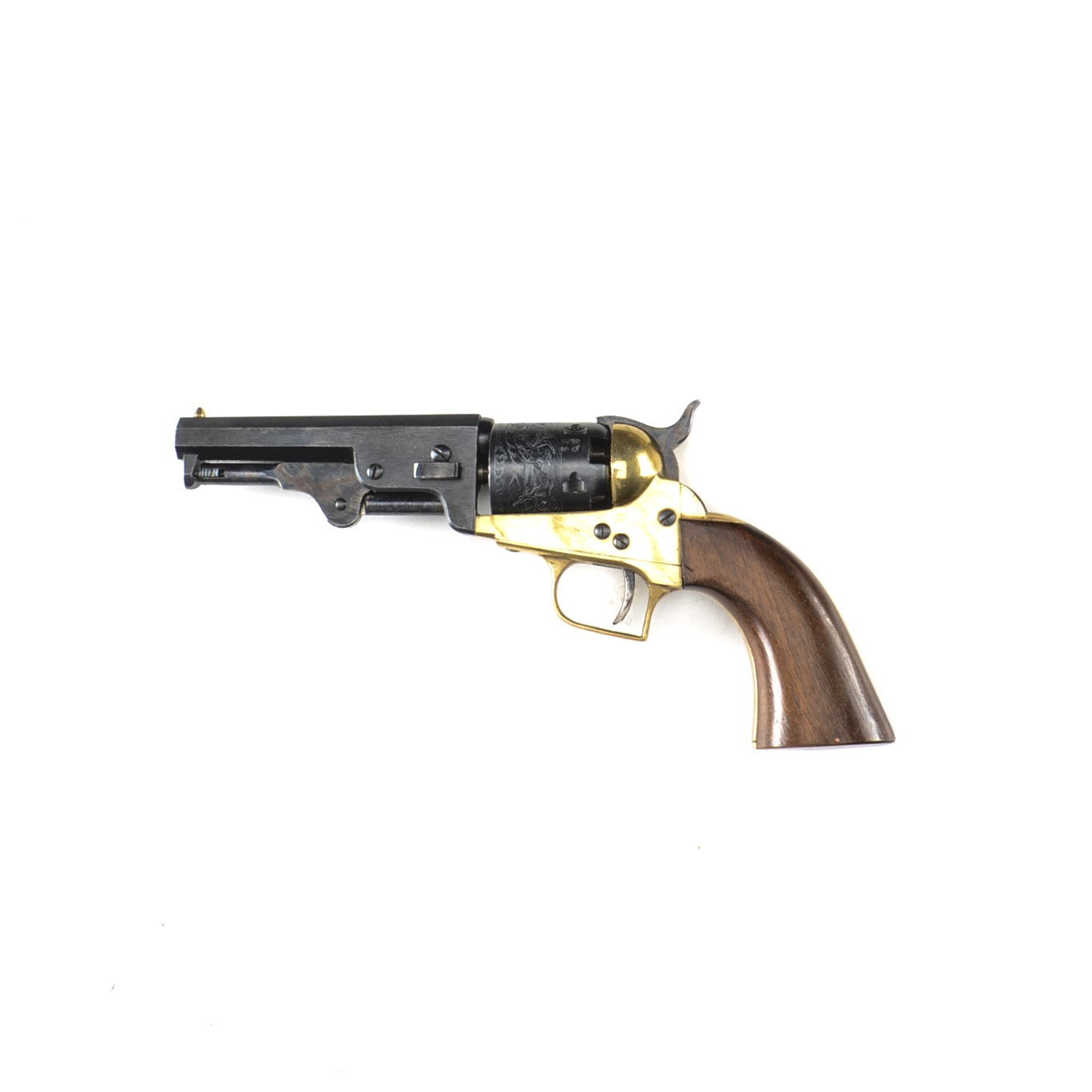 "Colt 1851 Navy Revolver ""Baby Dragoon"" Variant with Engraved Cylinder"