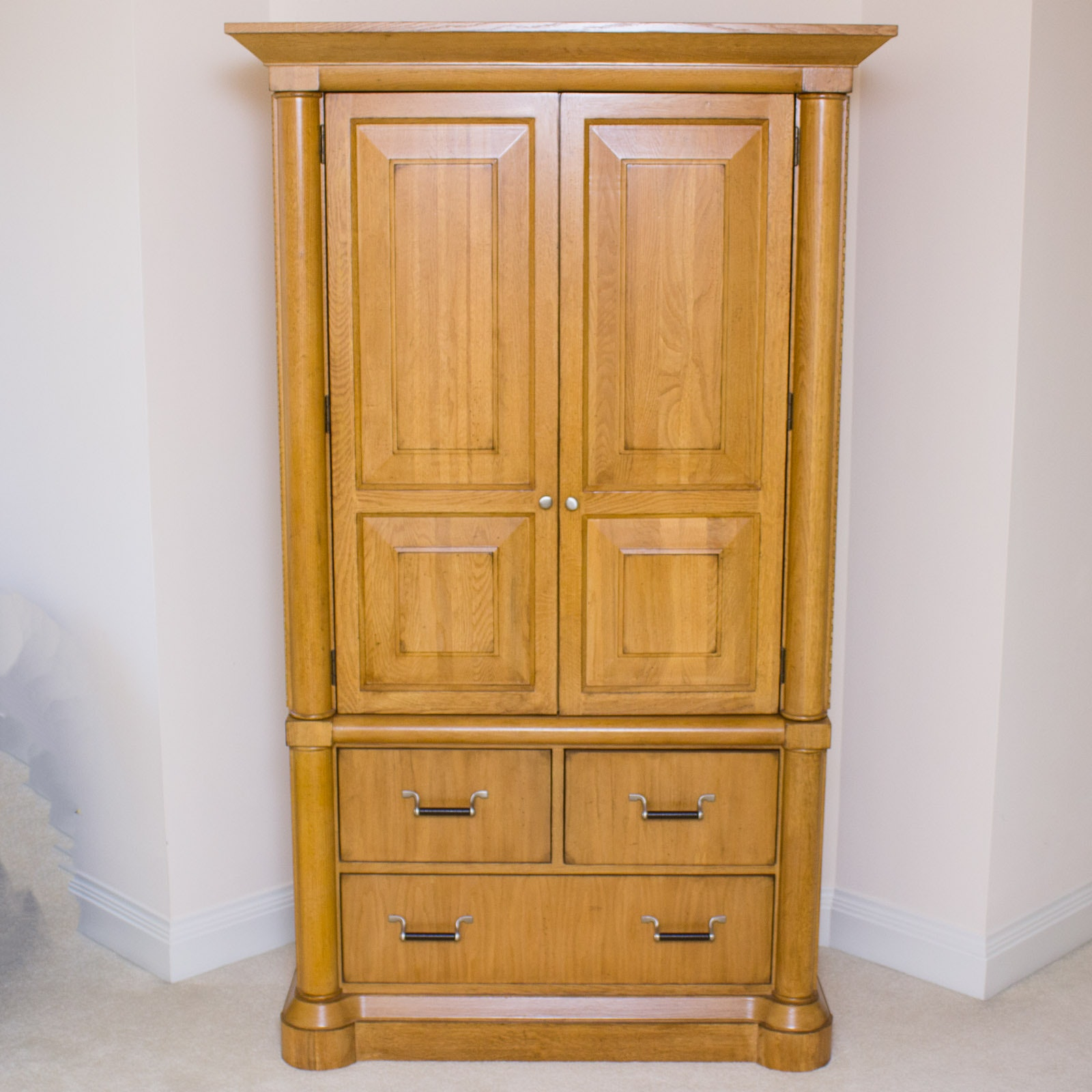 Charmant Lexington Oak Armoire Media Cabinet ...