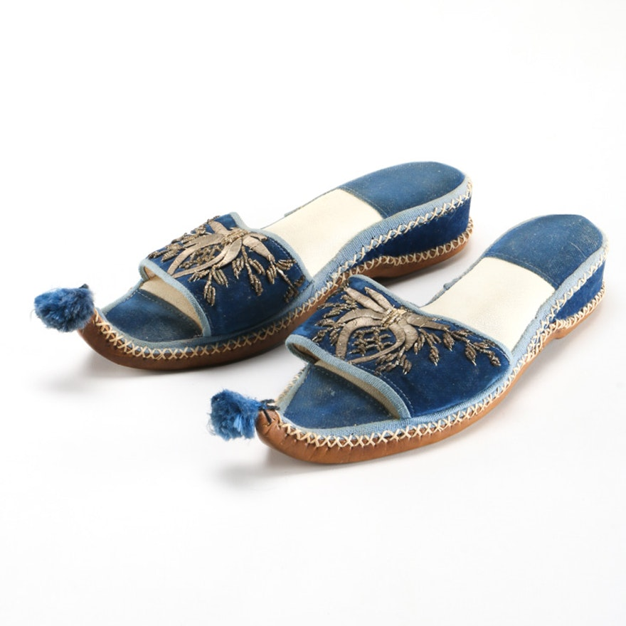 9e3269d5ba55 Pair of Women s Blue Slides