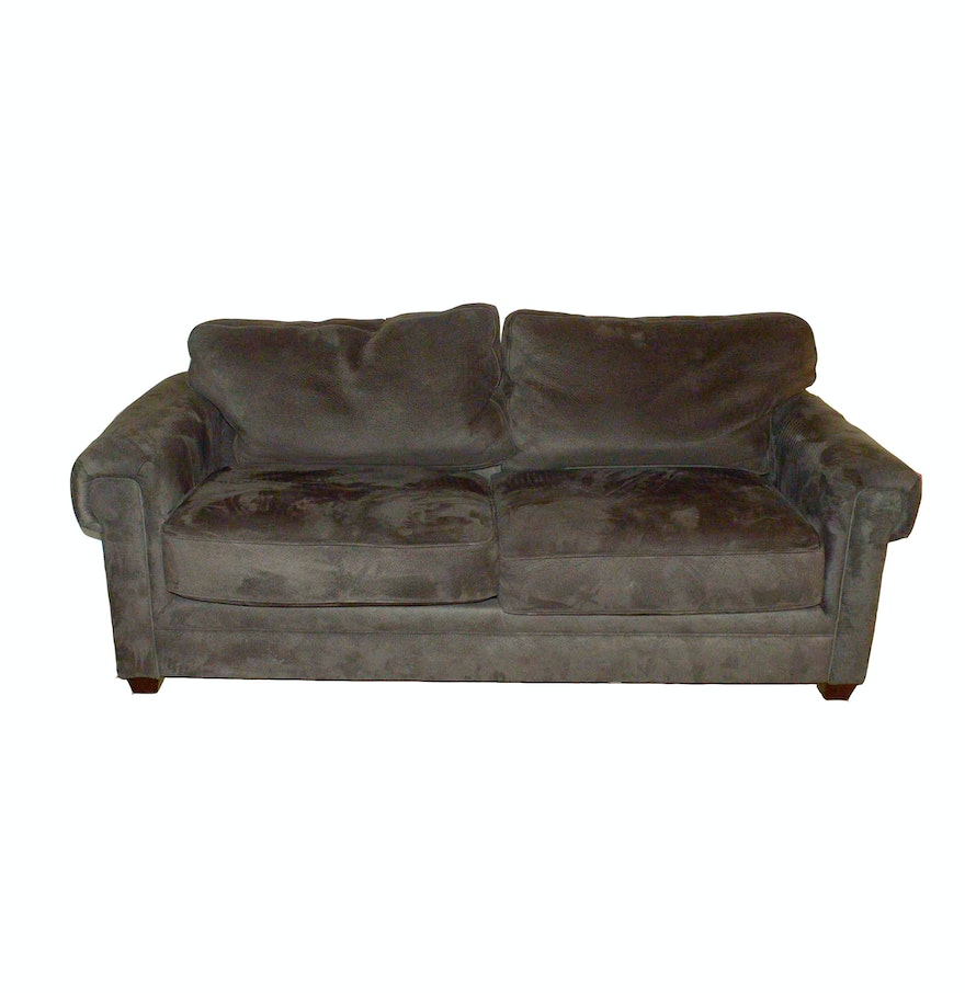 Havertys Brown Microfiber Sleeper Sofa Ebth