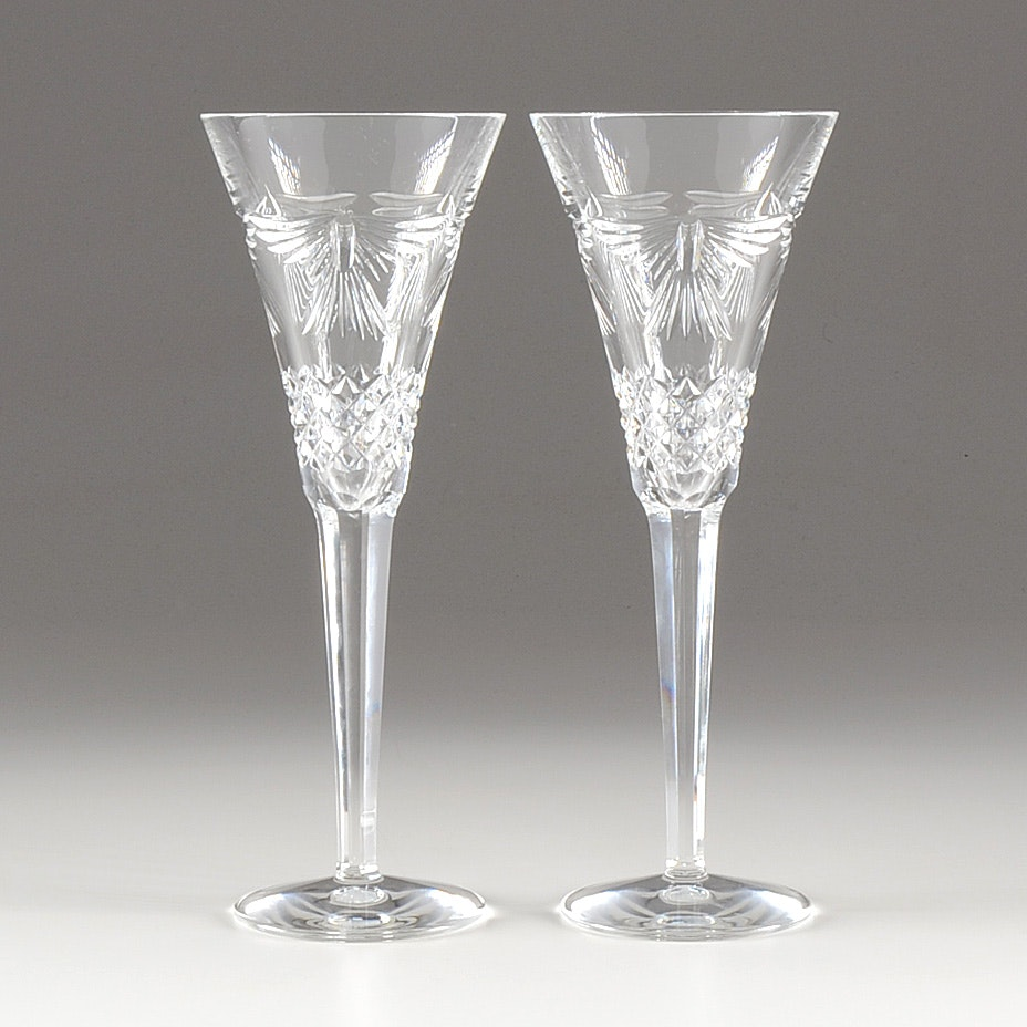 waterford millennium collection a toast to the year peace champagne flutes - Waterford Champagne Flutes