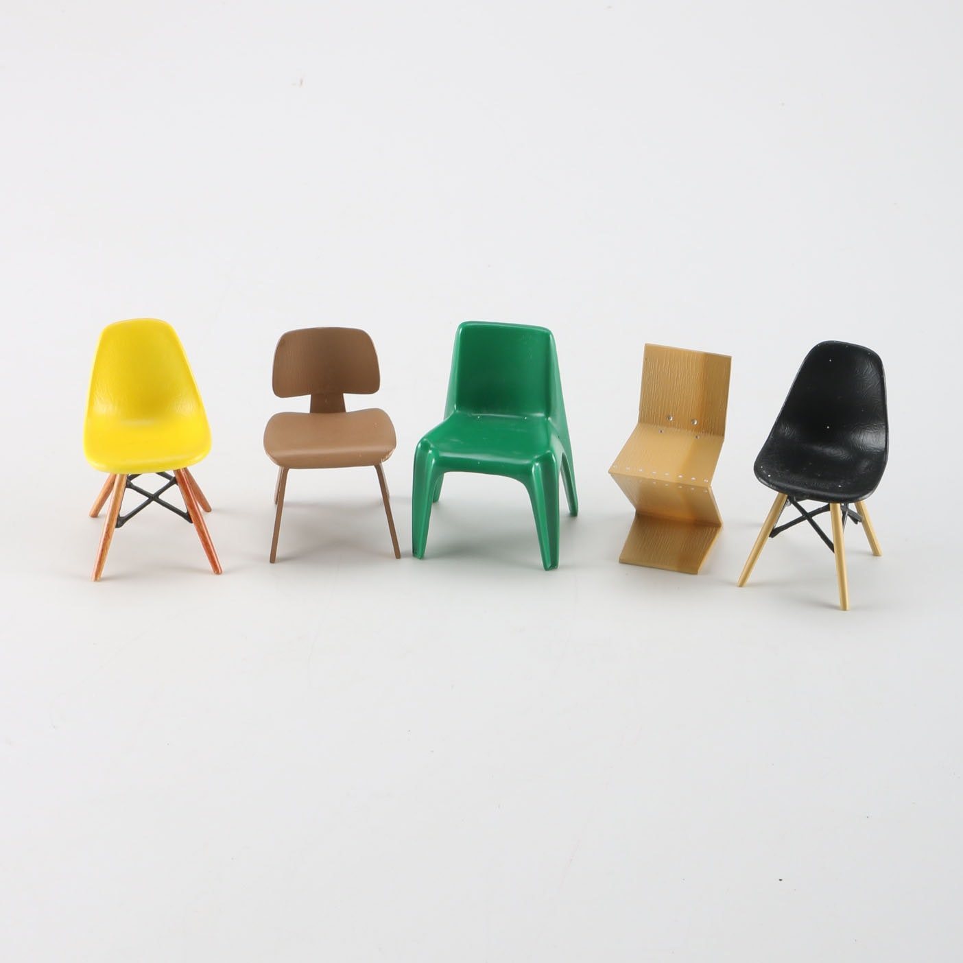 Group Of Vitra Miniature Herman Miller Style Chairs ...