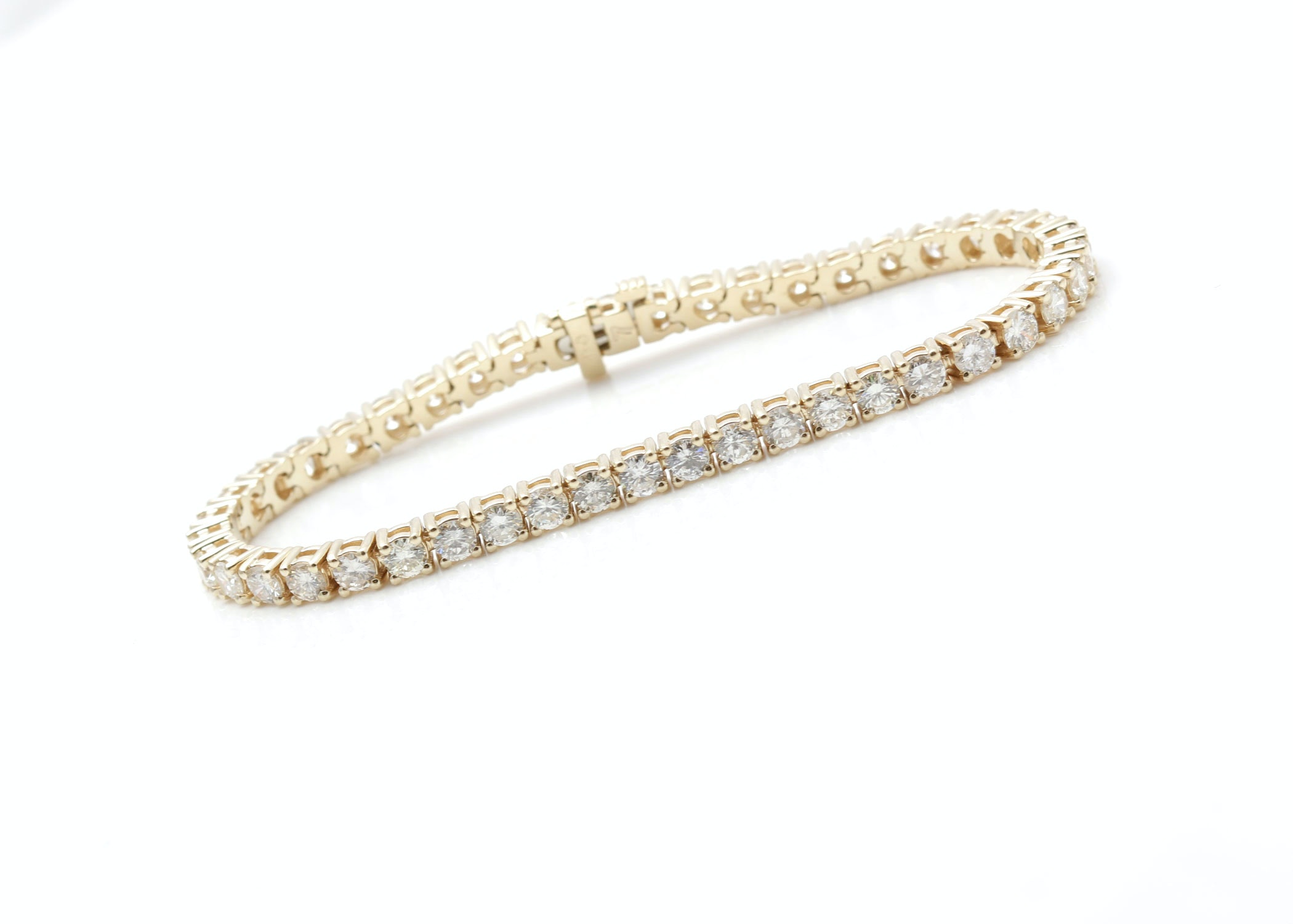 14K Yellow Gold 7.54 CTW Diamond Bracelet