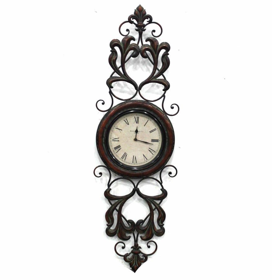 Decorative metal wall clock ebth decorative metal wall clock amipublicfo Image collections
