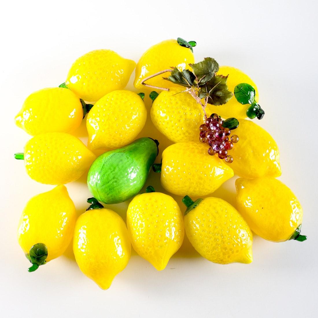 Glass Lemons and Other Fruit