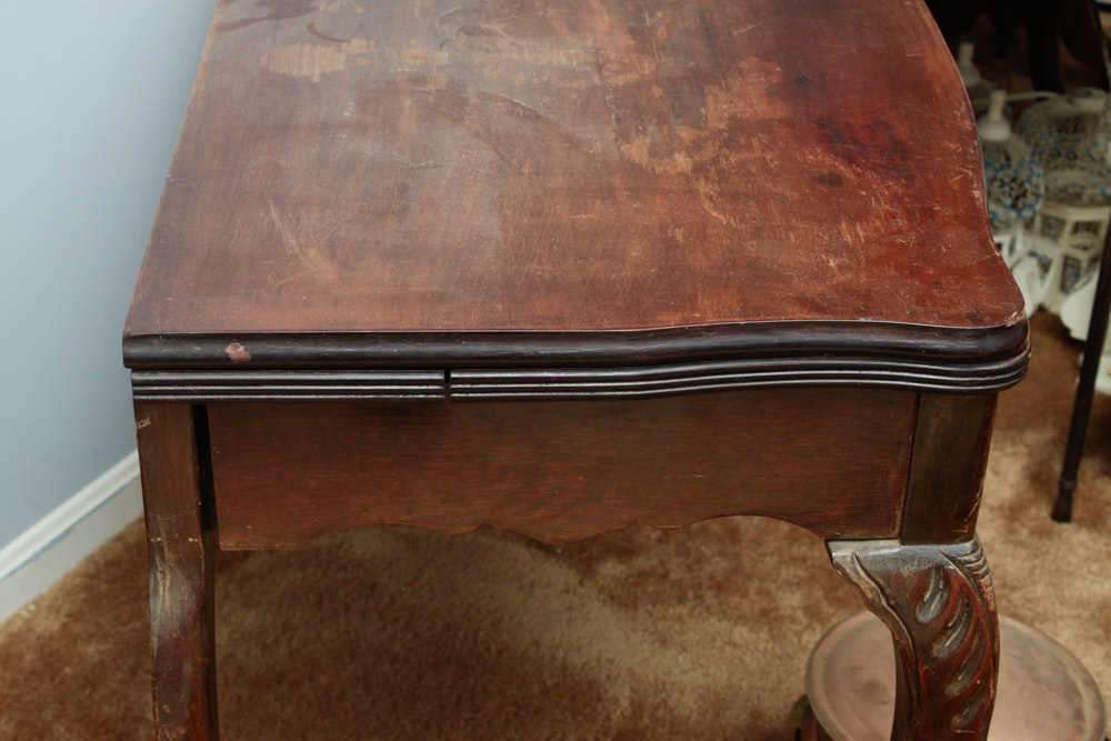 Antique Mahogany Extendable Flip Top Dining Table EBTH : 16WDC095EthanChelsie 136jpgixlibrb 11 from www.ebth.com size 600 x 400 jpeg 50kB