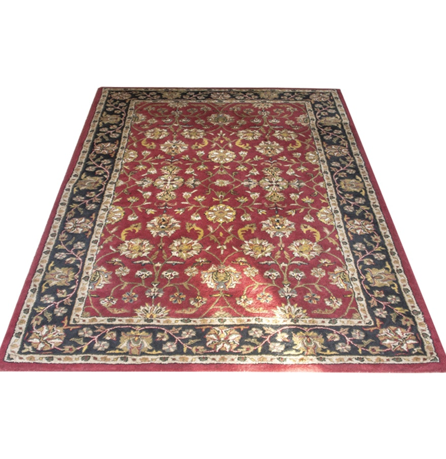 Kingsley house handmade wool area rug ebth for Custom made area rugs