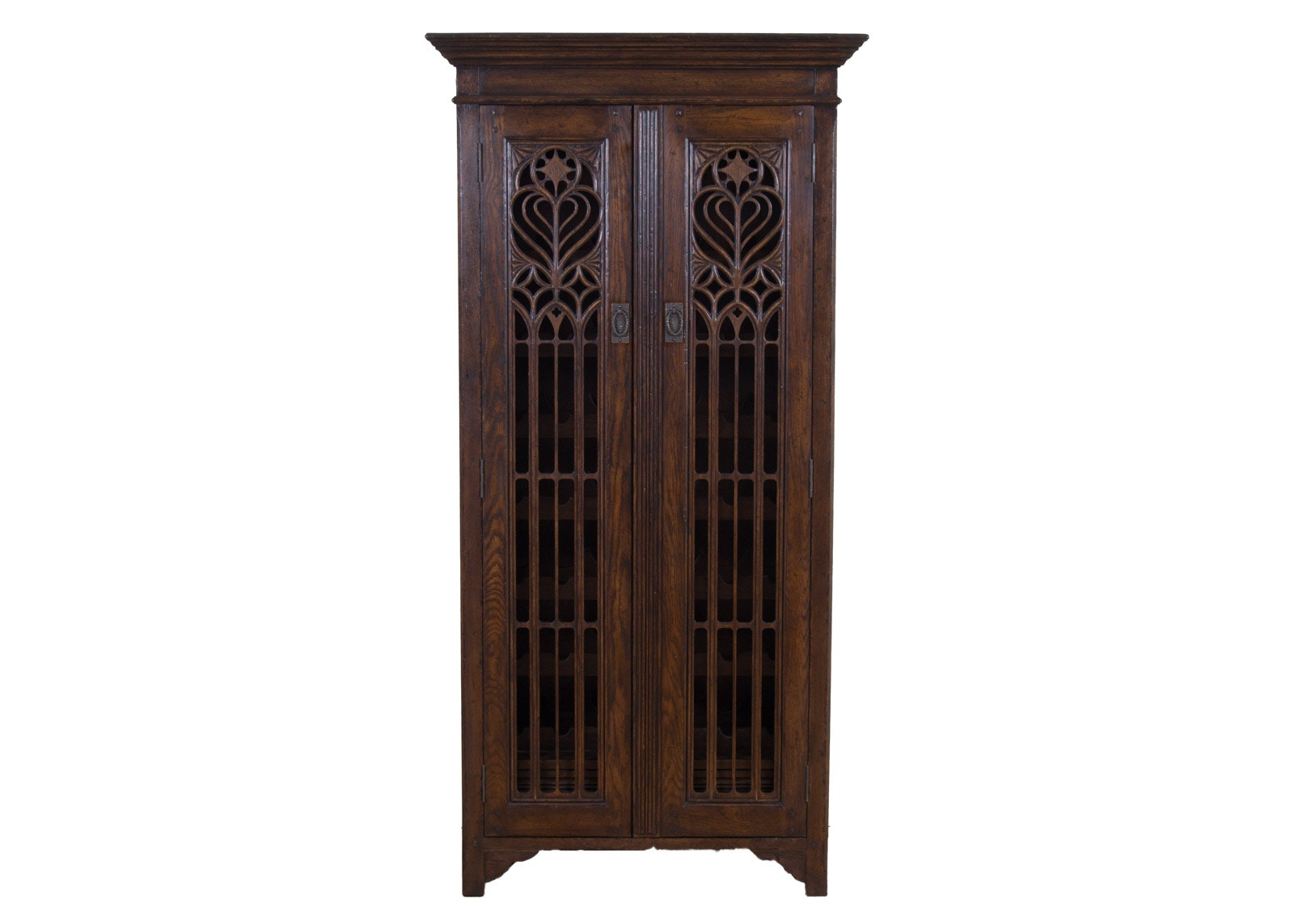 Jonathan Charles Tudor Collection Dark Oak Gothic Wine Cabinet